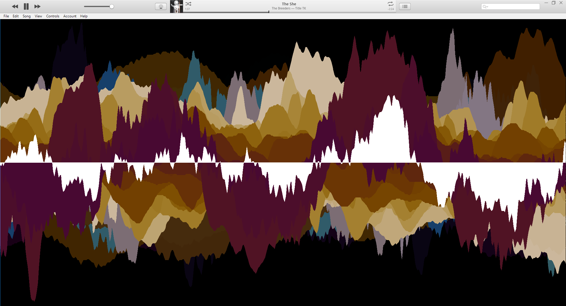 iTunes Storage Scope Visualization of The She by The Breeders