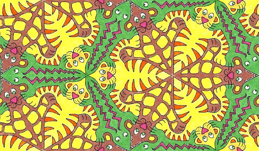 tessellation inspired by M C Escher